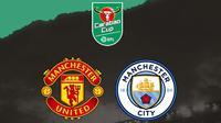 Carabao Cup - Manchester United Vs Manchester City (Bola.com/Adreanus Titus)