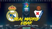 La Liga - Real Madrid Vs Eibar (Bola.com/Adreanus Titus)