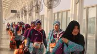 Jemaah haji Indonesia kembali ke Tanah Air melalui Bandara Prince Mohammed bin Abdulaziz, Madinah. Dok Kadaker Bandara PPIH 2019