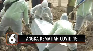 Angka kematian di Indonesia semakin memprihatinkan. Dalam masa pemberlakuan PPKM Darurat dan PPKM Level 4, angka kematian pasien Covid-19 sangat tinggi.