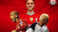 Liverpool - Raul Meireles, Diogo Jota, Abel Xavier (Bola.com/Adreanus Titus)