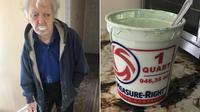kakek makan cat yang dikira yogurt (foto: twitter/@alexsteinnn)