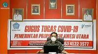 Jubir Satgas Covid-19 Provinsi Sulut dr Steaven Dandel .