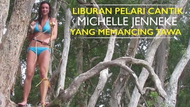 Video tingkah lucu Michelle Jenneke pelari cantik seksi Australia kala menjalani liburannya