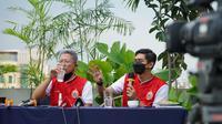 Presiden Persija Jakarta, Mohamad Prapanca (kiri) dan Bambang Pamungkas. (Media Persija).