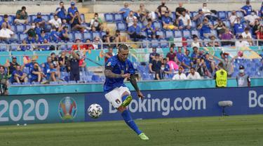 Foto Piala Eropa: Tundukkan Wales 1-0, Italia Lolos ke 16 Besar Euro 2020 sebagai Juara Grup A dan Belum Kebobolan