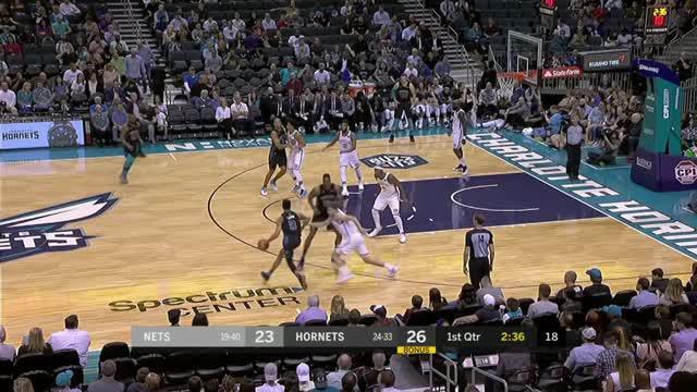 Berita video game recap NBA 2017-2018 antara Charlotte Hornets melawan Brooklyn Nets dengan skor 111-96.