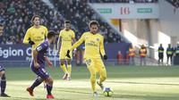 Striker Paris Saint-Germain, Neymar, mencetak gol tunggal saat mengalahkan Toulouse 1-0 di Stadion Municipal, Sabtu (10/2/2018) atau Minggu (11/2/2018) dini hari WIB. (Twitter PSG)