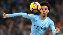 Leroy Sane (52 juta euro) - Sane didatangkan Manchester City dari FC Schalke pada musim 2016/2017 dengan harga transfer sebesar 52 juta euro. (AFP/Paul Ellis)