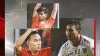 Ricky Fajrin, Novri Setiawan dan Irfan Jauhari. (Bola.com/Dody Iryawan)
