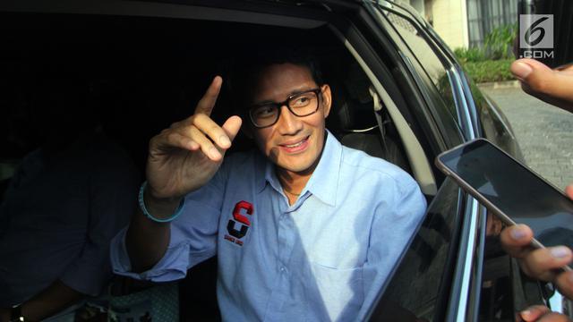 Prabowo dan Sandiag Uno Usai Sambangi Rumah SBY