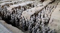 Penggalian Terracotta Army di makam Kaisar Qin Shi Huang di pinggiran Xi'an, China. (Dokumentasi Museum of the Terracotta Army)