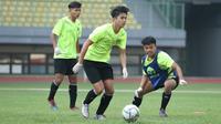 Pemain timnas Indonesia U-16 mengikuti latihan di stadion Patriot, Bekasi Senin (6/7/2020) (Sumber: PSSI)