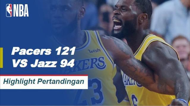 Domantas Sabonis memposting 19/9/9, sementara lima Pacers tambahan mencetak angka ganda saat Indiana menangani Utah, 121 - 94.