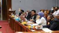 Kepala Perpustakaan Nasional Muhammad Syarif Bando saat rapat dengan pendapat dengan Komisi 9 DPR RI di Jakarta. (Liputan6.com/ Ist)