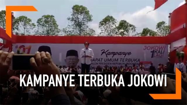Capres Nomor Urut 01 Joko Widodo mengingatkan pemdukung dan simpatisannya untuk tetap menjaga persatuan dan kerukunan dalam kampanye Pilpres.