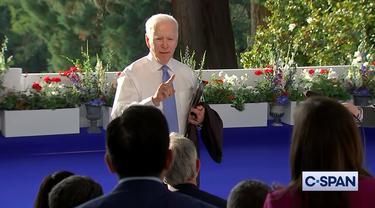 Presiden AS Joe Biden emosi ketika ditanya tentang Vladimir Putin.