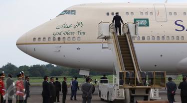 Penampakan Pesawat Kerajaan Arab Saudi Saat Tiba di Halim