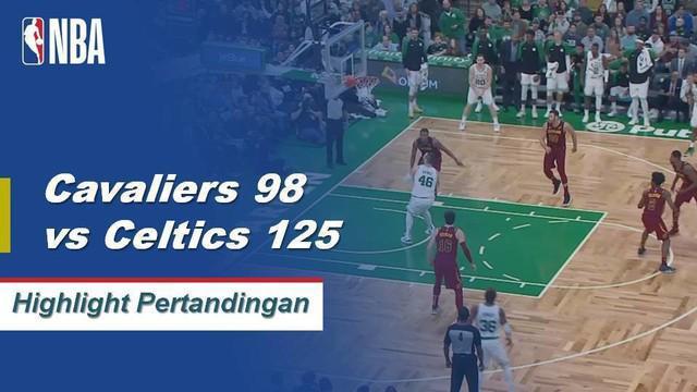Kyyrie Irving memimpin Celtics 128-95 untuk menang dari Cavaliers, mencetak skor 29 poin dan 4 rebound