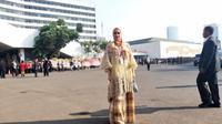 Mulan Jameela diambil sumpahnya sebagai anggota DPR RI, Selasa (1/10/2019) pagi (Istimewa)