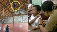 Momen Kocak Anak Sekolah Saat Imunisasi  (Sumber: 1cak)