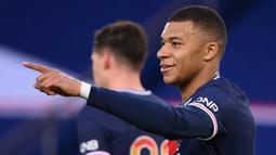 Kylian Mbappe. Striker asal Prancis berusia 22 tahun yang memperkuat Paris Saint-Germain ini telah mencetak 26 gol dari 30 pertandingan di Ligue 1 dan menjadi top skor sementara di Liga Prancis musim ini. (AFP/Franck Fife)