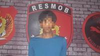 AATY alias Andi, Pelaku pencurian warga Kelurahan Wongkaditi, Kecamatan Kota Utara, Kota Gorontalo (Liputan6.com/Arfandi Ibrahim)