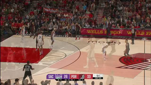 Berita video game recap NBA 2017-2018 antara Portland Trail Blazers melawan Sacramento Kings dengan skor 116-99.