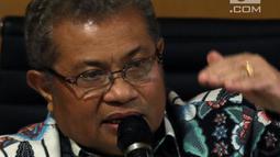 Juru Bicara Mahkamah Agung (MA), Andi Samsan Nganro memberikan keterangan dalam jumpa pers terkait putusan Baiq Nuril, di Jakarta, Senin (8/7/2019). MA menilai penolakan terhadap Peninjauan Kembali (PK) atas nama Baiq Nuril hanya terkait perkara dugaan pelanggaran UU ITE. (Liputan6.com/Johan Tallo)