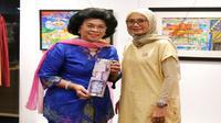 Tokoh Nasional Penggerak Aksi Sosial Linda Gumelar membuka acara Charity Art Exhibition Heart for Autism di Sunrise Art of Gallery Hotel Fairmont, Senayan, Jakarta Selatan, Kamis (1/8/2019). (Dok Daya Pelita Kasih Foundation)