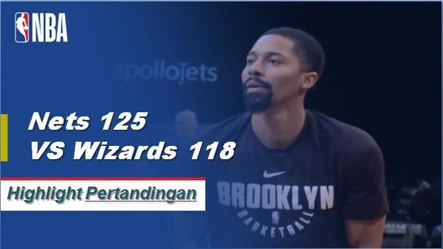 Spencer Dinwiddie keluar dari bangku cadangan untuk mencetak 27 poin dan enam assist saat Nets menang atas Wizards 125-118