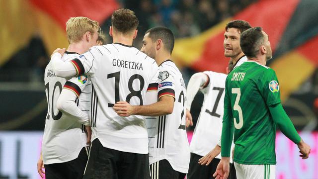 Timnas Jerman hanya sekali kalah selama fase kualifikasiPiala Eropa 2020. Mereka tumbang 0-2 dari Timnas Belanda.