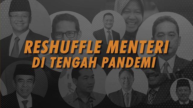 Ada enam posisi yang diumumkan diganti maupun diisi pada reshuffle kabinet Jokowi pada Selasa, 22 Desember 2020 di Istana Kepresidenan Jakarta.