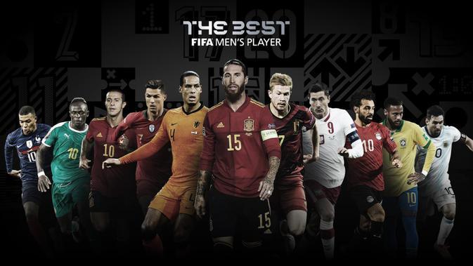 Nominasi pemenang pemain terbaik putra FIFA The Best Award 2020. (Dok FIFA)