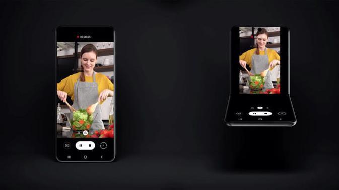 Samsung ungkap smartphone layar lipat vertikal. (Doc: Android Authority)