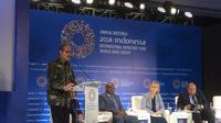 Bank Indonesia (BI) menandai hari terakhir penyelenggaraan IMF-World Bank Annual Meeting di Bali, dengan meluncurkan 'Waqf Core Principal'. Dok Merdeka.com/Wilfridus Setu Umbu