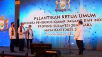 Kadin Sulawesi Tenggara, berupaya ikut mernbantu peningkatan aspal Buton dalam memenuhi kebutuhan pasar nasional dan internasional.(Liputan6.com/Ahmad Akbar Fua)