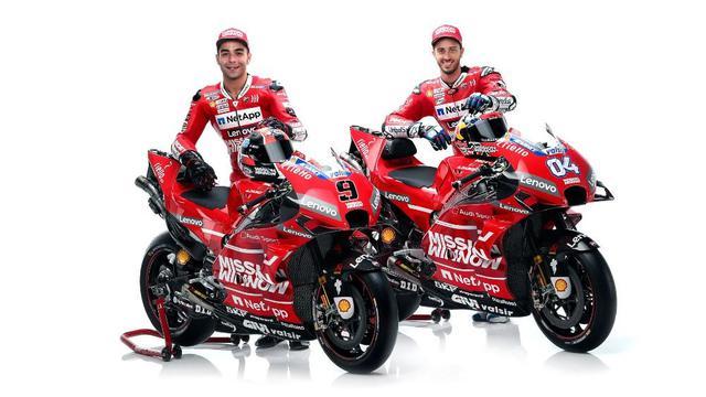 Pembalap Ducati, Danilo Petrucci dan Andrea Dovizioso.