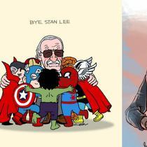 Banyak warganet hasilkan ilustrasi Stan Lee bersama para tokoh superhero sebagai bentuk penghormatan terakhir mereka melepas kepergian Stan Lee untuk selamanya.