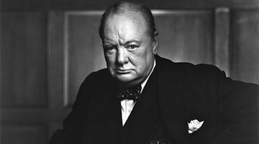 Foto ikonik PM Inggris Winston Churchill yang diambil di Kanada 1941 (Wikimedia Commons/Yousuf Karsh)