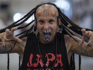 Pecinta Tato Dunia Berkumpul di Sao Paulo Tattoo Week