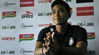 Bek Arema, Bagas Adi Nugroho. (Bola.com/Iwan Setiawan)