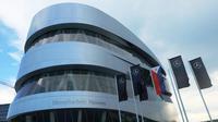 Mercedes-Benz Museum, terletak di Stuttgart. (Foto: Rio/Liputan6).