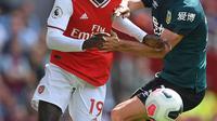 Winger Arsenal, Nicolas Pepe, berambisi membawa timnya menjuarai Liga Europa musim ini. (AFP/Daniel Leal-Olivas)
