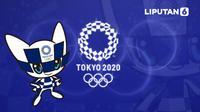Banner Maskot Olimpiade Tokyo 2020 (Liputan6.com/Abdillah)