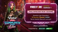 Live Streaming Vidio Community Cup Ladies Season 1 : Free Fire Series. (Sumber : dok. vidio.com)