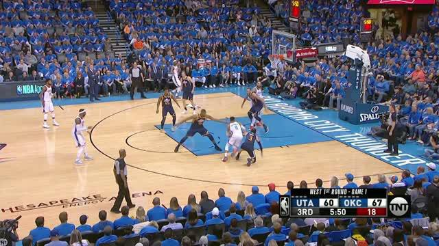 Berita video game recap NBA 2017-2018 antara Oklahoma City Thunder melawan Utah Jazz dengan skor 116-108.