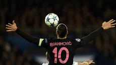 Zlatan Ibrahimovic akan habis kontraknya bersama PSG pada Desember 2015 ini dan mungkin akan berlabuh ke salah satu klub Liga Inggris. AFP/Franck Fife)