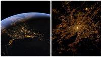 Potret bumi dari stasiun luar angkasa internasional (Sumber: Google Earth, Twitter/@astro_reid)