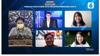 Menteri Koordinator Bidang Perekonomian Airlangga Hartarto dalam Bincang Editor Liputan6.com: Vaksin dan Donor Plasma Untuk Percepatan Penanganan Covid-19, Jumat (22/1/2021).